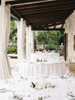 Ibiza wedding venues - terrace table layout