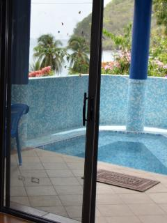 Private plunge pool, in the ambience of the sweet Saint Lucian environment