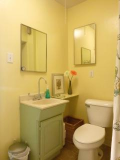 Bathroom renovation planned, sink and toilet