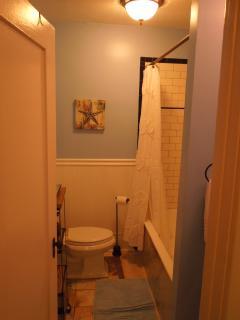 Full Bath with Marble Floor