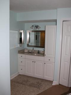Vanity/sink area of Bedroom 1.