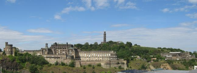 View of Calton Hill from the roof terrace
