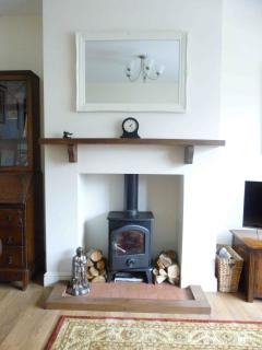 Moorhen Cottage Log Burner in sitting room