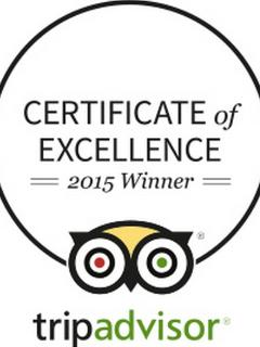 Certificate of Excellence FIVE years running