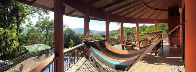 2 large double hammocks to enjoy on the balcony as well as plenty of seating