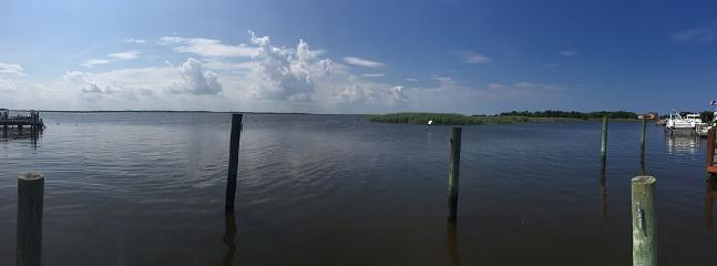 A panoramic view from the dock.