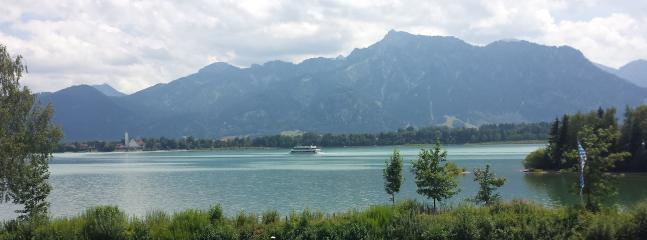 View to Schwangau from the other side of Lake Forggensee