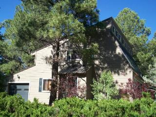 This 3 bedroom vacation home in Pagosa Springs is right on the golf course.