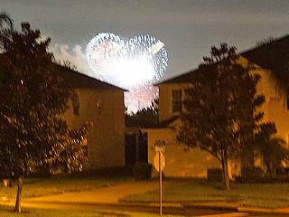 Disney World Fireworks view from vacation home