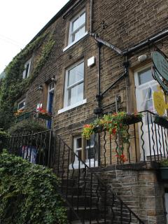Norah Batty's house from the TV series 'Last of the Summer Wine' plus tea shop and museum