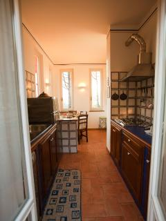 Pinturicchio charming apartment, the fully equipped kitchen, Villa Nuba villa rental in Perugia