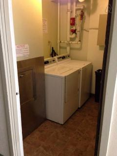 Loundry room with coin card operated washer & drier  is on every floor