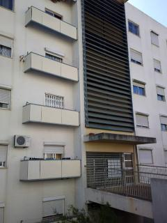 Facade of the apartment's building