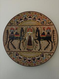 old sardinian decorated plate - piatto sardo antico decorato