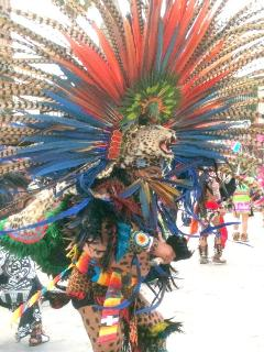 Aztec Chieftain...Enlarge and take a closer look...Very Interesting...Mexico's History