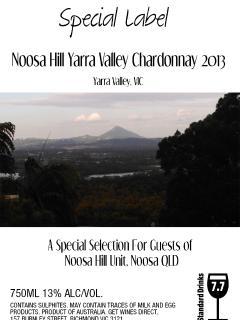 Special label Australian Chardonnay(Varra Valley S Aust 2013) and Cabernet Sauvignon (Barossa 2011)