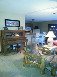 living room/ kitchen-its fully equipped