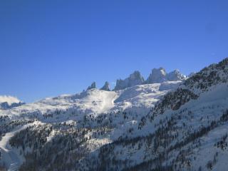 La pista di sci della funivia Col Margherita