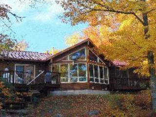 Our cottage with the beautiful fall colours