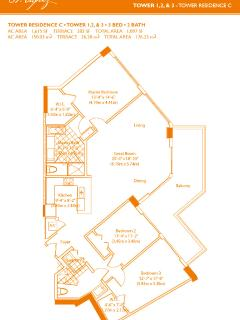St Tropez Sunny Isles Apartment Layout