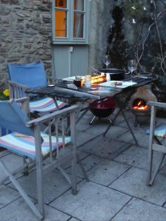 Enjoy the private patio for Breakfasts and BBQs