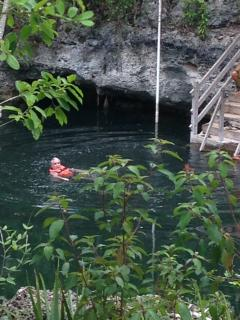 One of the many beautiful cenotes in the area