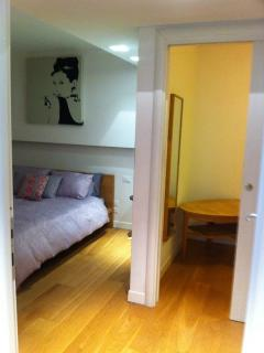 large bedroom with walk in wardrobe