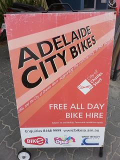 free all day bike hire available from West Beach Surf Club