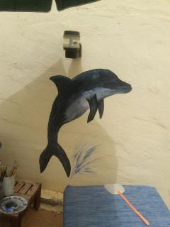 one of my wall paintings in the pool area
