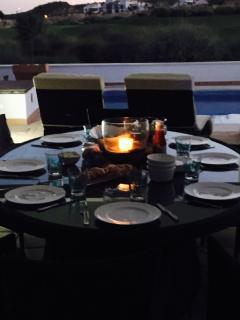 Outdoor nightime dining