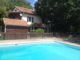 Beautiful Detached Farmhouse with Large Pool, Lesignac-Durand