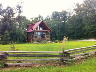 Ellen's Log Cabin with Hot Tub near Meramec River, Steelville