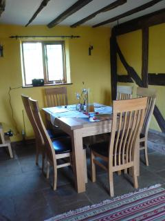 Breakfast room in the adjoining farmhouse