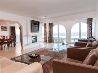 Main living room with wonderful views over the beach and sea