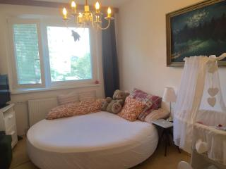 Lovely room in nice flat, big round bed