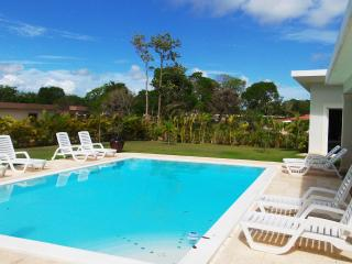 """Enjoy this 4 bedroom """"Tranquila Custom"""". The villa has a big backyard space to play games or just to walk around. Televisions and safes in each bedroom along with mirror wardrobe. Dont forget to try out the BBQ grill at the nice afternoons.  (, Cabarete"""
