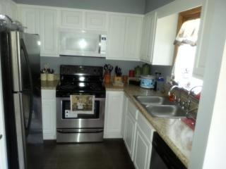 Newly renovated kitchen all stainless steel appliances.