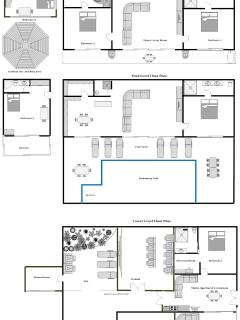 Here is a layout plan of the villa so you can see the configuration of the rooms