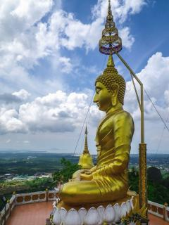 Wat Tham Sua  (Tiger Temple Cave) in Krabi town, 1272 steps to the top.