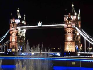 Tower Bridge a 10 minute walk, spectacular at night.