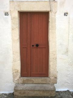 Front door with original stone surround
