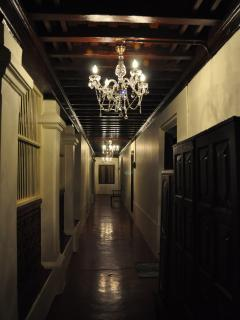 An illuminated view of our first floor corridor.
