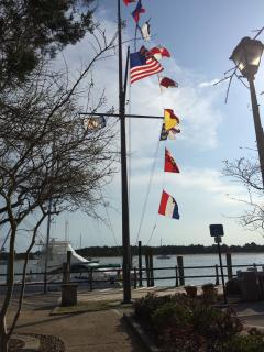 Beaufort's waterfront is interesting year around.
