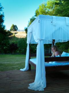 Relax in the outdoor day bed