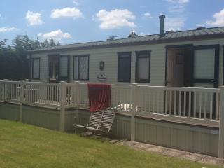 Holiday caravan at Waldegraves West Mersea Essex