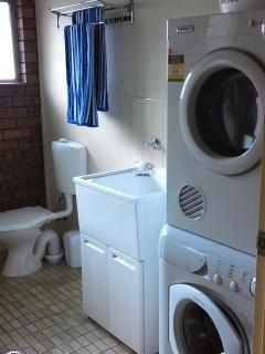 Laundry and toilet