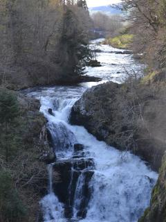 The Reekie Linn waterfall near Alyth