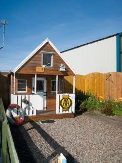 'Puffins Perch' an outside, two storey, playhouse for the kids to play in.