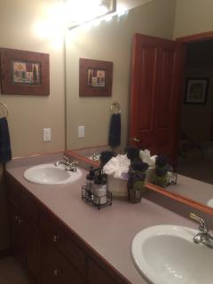 Master bathroom with whirlpool bath