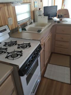 Full sized immaculate kitchen.